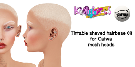 [KoKoLoReS] Tintable shaved hairbase for Catwa mesh heads 01