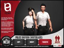 (epia) - Police Uniform WHITEBLACK