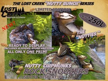 Lost Creek Nutty CHIPMUNKS Rock Snoozers #1 LTD