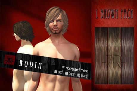 [Uw.st -7R-]  Robin-hair L brown pack