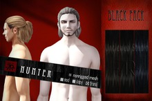 [Uw.st -7R-]  Hunter-hair  Black pack