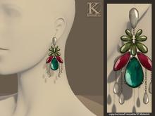 (Kunglers)  Cintia earrings - Teal