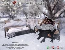 "Heart Homes ""Winter Cozy Bench"""