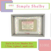 You Know You're in Love Shadow Box
