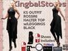 KS OUTFIT ROSSINI HALTER TOP w/LEGGINGS BLACK