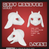 Paws - UnderTale Goat Monster Head [Boxed]