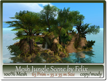 Mesh Jungle Scene by Felix 63 Prim=35x35m Size copy-mody