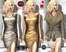M&M-RISSA DRESS BEIGE