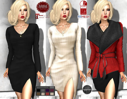 Winter FASHION - M&M-RISSA DRESS RED