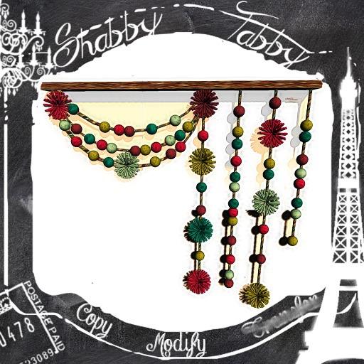 *Shabby* Bohoho Pompon Curtain