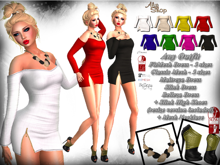 *Aly's Shop* Any Outfit - Maitreya, Slink, Belleza