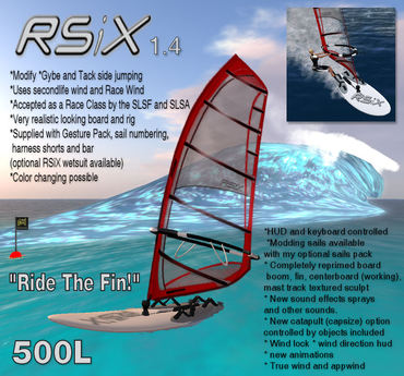 Second Life Marketplace Rsix Racewind Windsurfer 1 4 Windsurf Windsurfing Surfing Surf La Planche A Voile