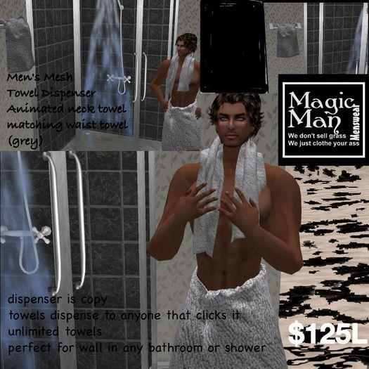 Men's Annimated neck towel dispencer(box)