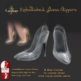 [DDD] Filigree Glass Heel - Silver