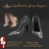 [DDD] Filigree Glass Heel - Black