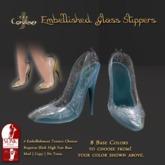[DDD] Filigree Glass Heel - Blue