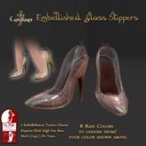 [DDD] Filigree Glass Heel - Bronze