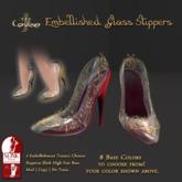 [DDD] Filigree Glass Heel - Crimson