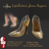 [DDD] Filigree Glass Heel - Golden