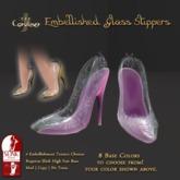 [DDD] Filigree Glass Heel - Pink