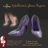 [DDD] Filigree Glass Heel - Purple