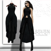 SEVEN - ARIA mesh OUTFIT (black)