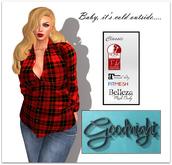 Goodnight Desire Shirt-Red Flannel