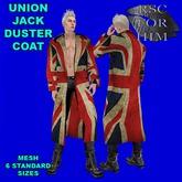 RSC FOR HIM UNION JACK DUSTER COAT MESH