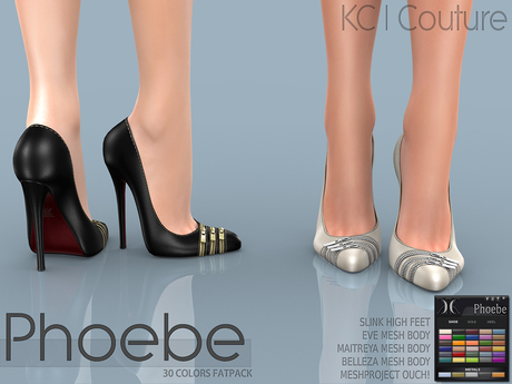 -KC- PHOEBE HEELS / SLINK HIGH, MAITREYA, BELLEZA, TMP, EVE