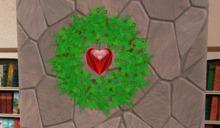 Valentine Spinning Heart Wreath