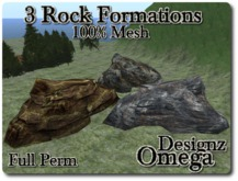 3 Walkable Rock Formations Full Perm