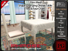 1 Prim Shape Changing Dinner Table for 2 & 4 (PG)