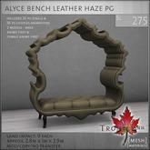 Trompe Loeil - Alyce Bench Leather Haze PG [mesh]
