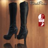 BlackRose Leather Boots Black