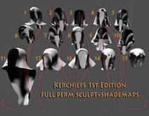 Kerchiefs 1st edition FULL PERM SCULPT+SHADEMAPS turban hoodie