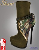-Shani- Boogie Shoes Camo Ankle Boots