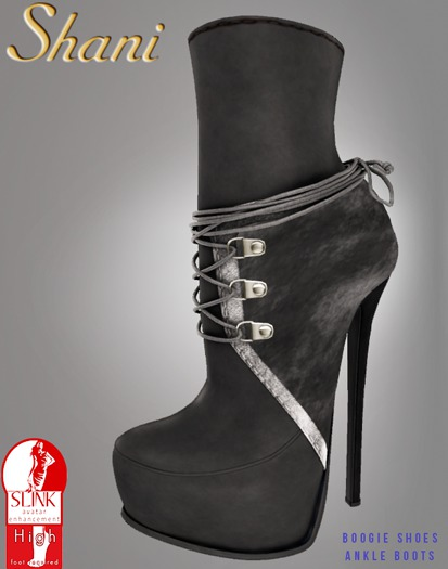-Shani- Boogie Shoes Velvet Ankle Boots