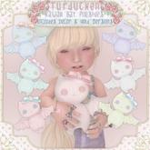 Turducken ToddleeDoo - Kawaii Bat Plushie - Blue {Box}