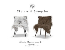 Soy. Chair with sheep fur (addme)