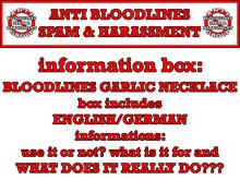 anti vampire garlic necklace + IMPORTANT information