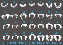 Roll Neck 3th edition FULL PERM SCULPT+SHADEMAPS collar sweater