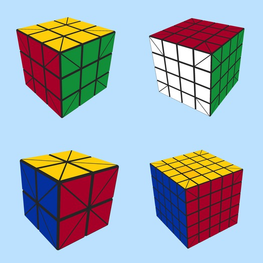 Set of Rubik cubes