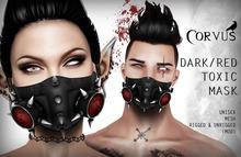 Corvus : Dark/Red Toxic Mask Unisex