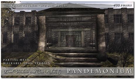 Mega Sale 1/4 Sim Prefab Arkham Asylum - Walkable Mesh Terrain