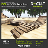 *** DCL Wood Beach Set [Mesh]