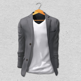 BlankLine Blazer and tee-shirts (fitted) [Gray]
