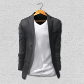 BlankLine Blazer and tee-shirts (fitted) [Black]