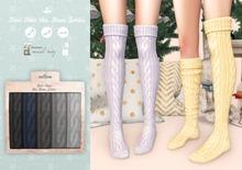 {sallie} Knit Over the Knee Socks - dark pack
