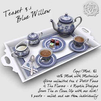 R(S)W Teaset 3.1 - Blue Willow pattern