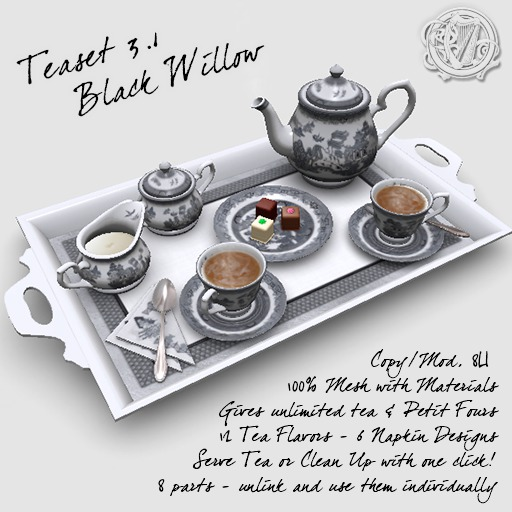 R(S)W Teaset 3.1 - Black Willow pattern